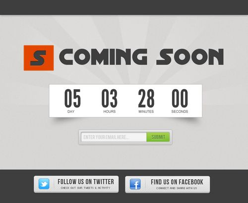 Create a Simple Coming Soon Page Design in Photoshop