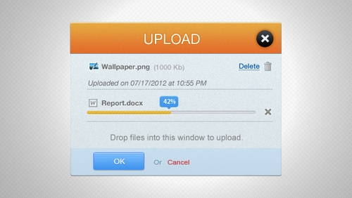 Free psd Misc Upload Interface PSD