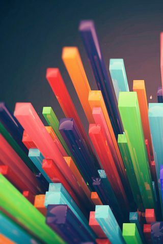 Colorful Sticks iPhone Wallpaper