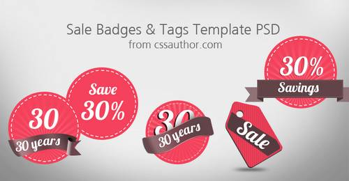 Free Sale Badges and Tags Template PSD