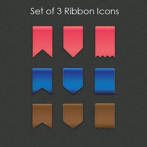 Vector Ribbon Icons