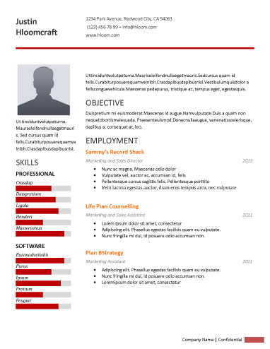 Little Spaces - free resume template