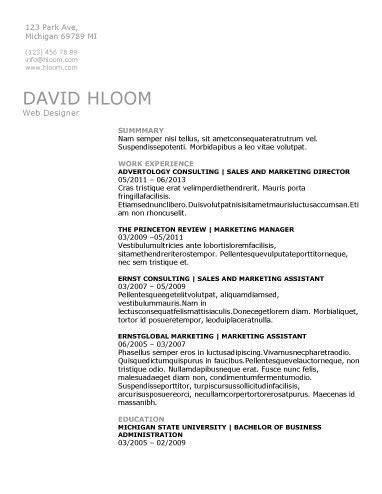 Technical Specialist - free resume template