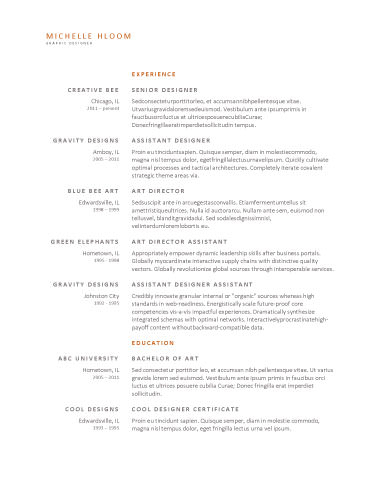 Upfront - free resume template