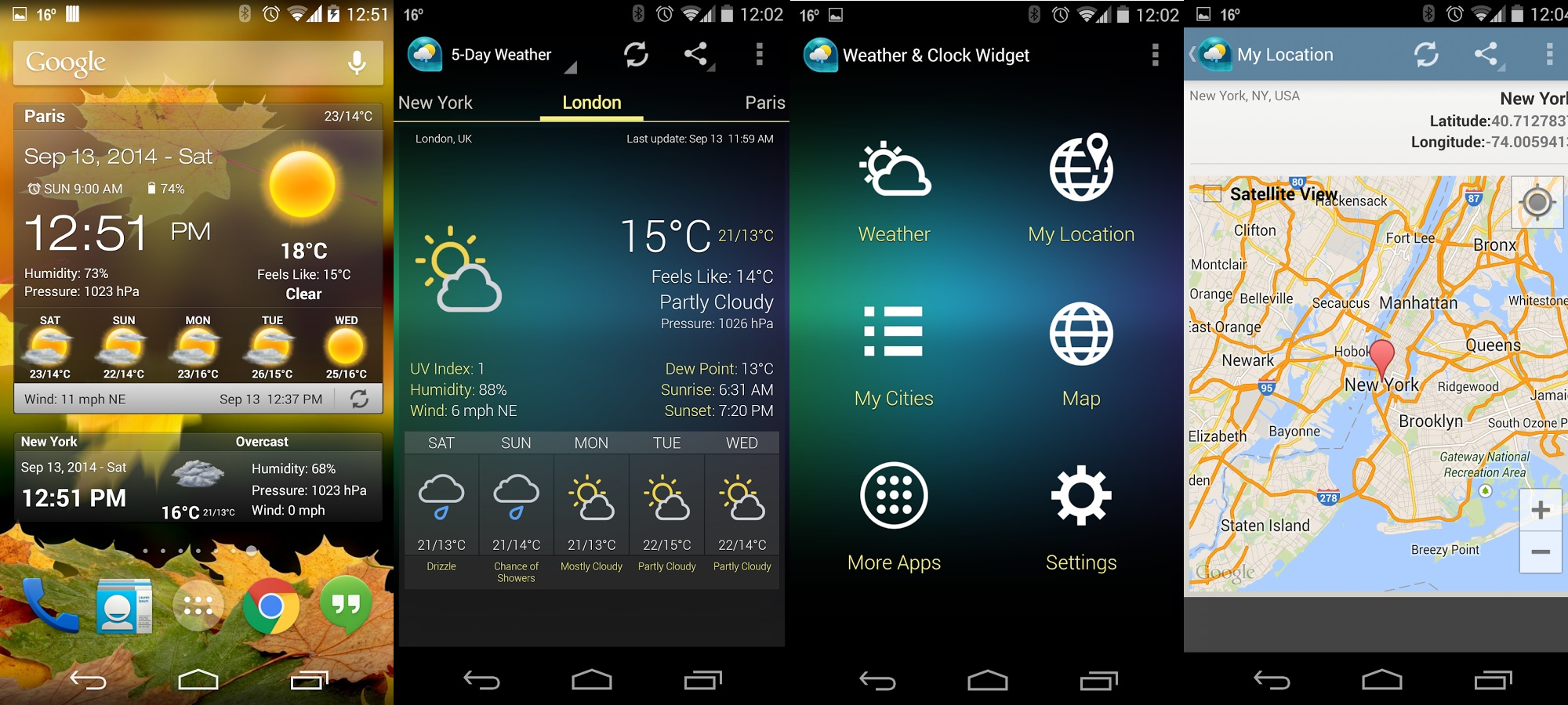 how to find widgets on android