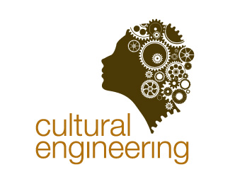 cultural engineering - side face logo