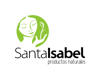santalsabel products naturales - lady face inspired logo