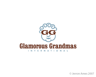 glamorous grandmas - old lady inspired logo design