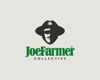 joefarmer collection - face with hat logo