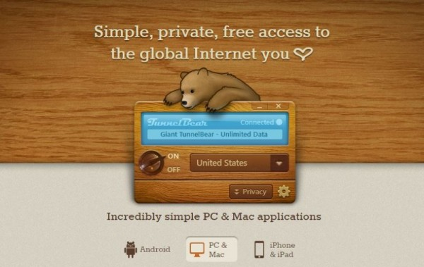 best free vpn - tunnel bear