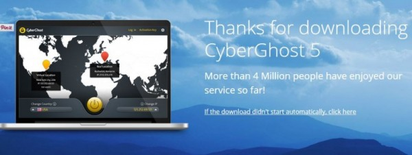 best free vpn - CyberGhost-thanks