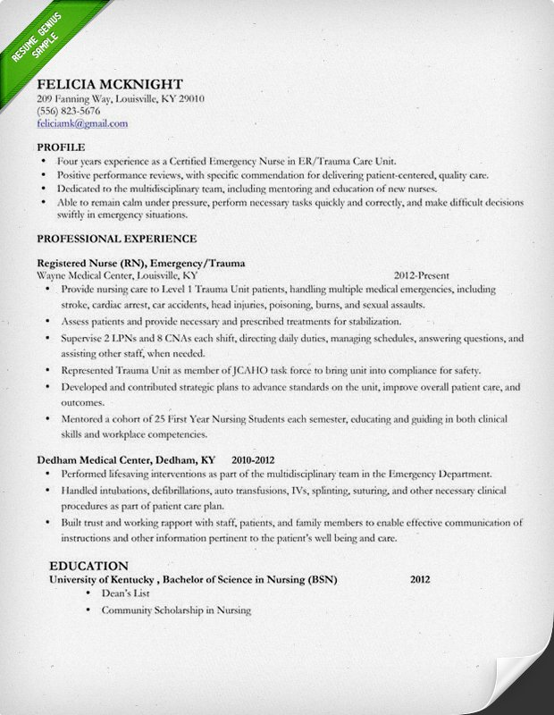 nursing resume template 1 mid level nurse - Entry Level Rn Resume Examples