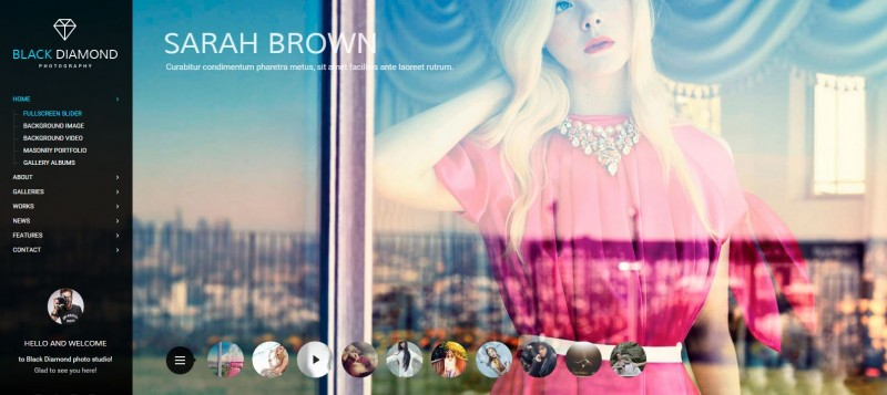 1-Diamond - WordPress Photography Themes