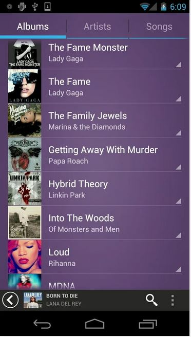 3-fusion android music player