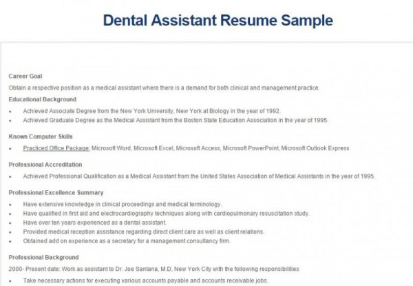 5 best dental assistant resume