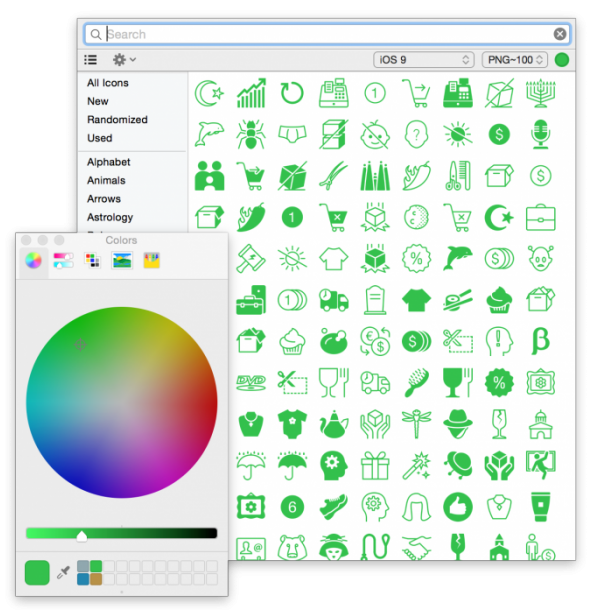 Recoloring with Icons8 App