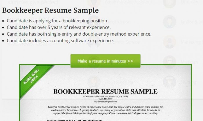 Bookkeeper Resume Sample 2  Bookkeeping Resume Samples