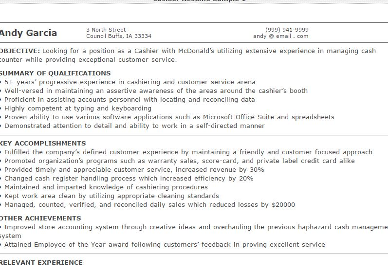 3 Cashier Resume  Resume Examples For Cashier