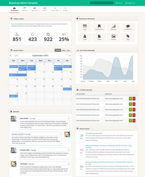 TemplateVamp - free admin template for bootstrap