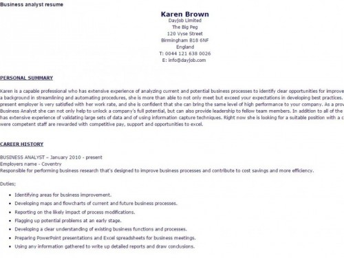 business analyst resume sample pdf and microsoft document or doc