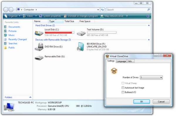 Virtual Clone Drive - best software to mount iso