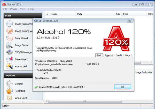 Alcohol 120 - best iso software for windows 10