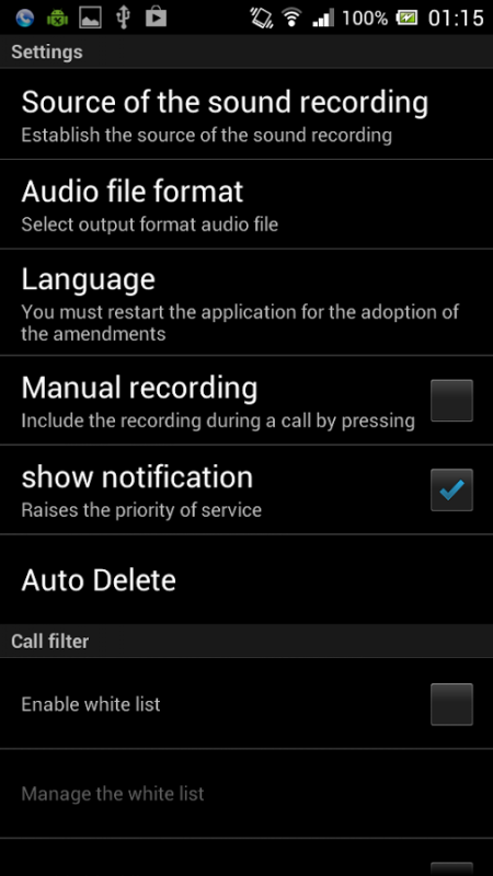 call recorder for android review