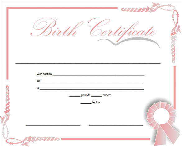 Birth certificate templates 20 great birth certificate templates yadclub Images