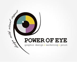 eye logo - power of eye - POE Design Logo