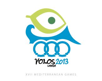 XVII Mediterranean Games of Volos and Larisa logo eye
