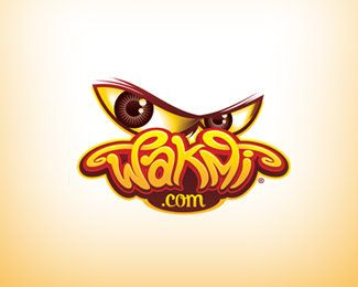 WAKMI eye logo design