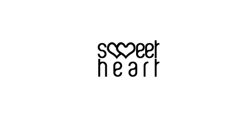 Sweet heart - Heart Inspired Logo