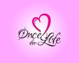 Once for Life - Heart Inspired Logo