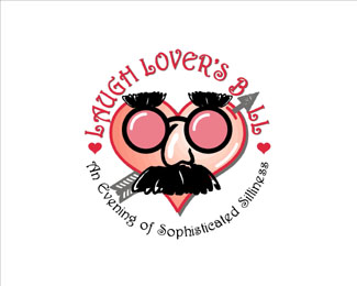 Laugh Lover's Ball - Heart Inspired Logo
