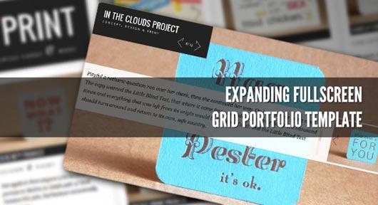 Expanding Fullscreen Grid Portfolio