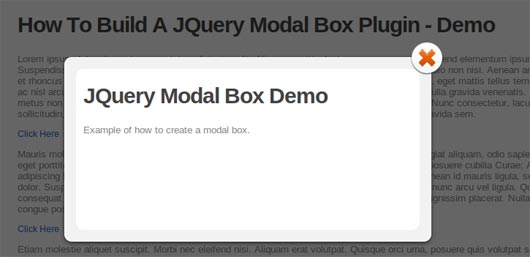 How To Create A Simple Modal Box With JQuery