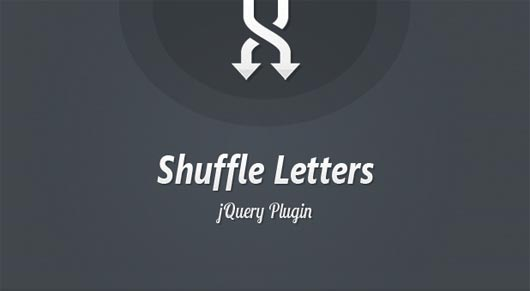 Shuffle Letters Effect: a jQuery Plugin