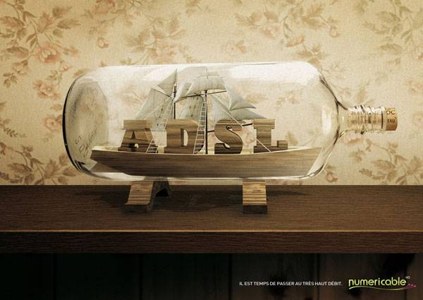 It's time to change for fiber optics Print Ad For Inspiration