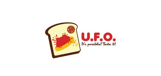 U.F.O. food logo