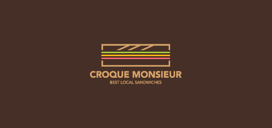 Croque Monsieur Food Inspired Logo Design