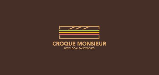 Croque Monsieur Food Inspired Logo Design