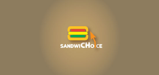 Sandwichoice Food Inspired Logo Design