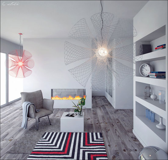 Stunning 3D Interior Design For Inspiration