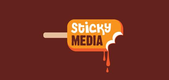 StickyMedia Food Inspired Logo Design