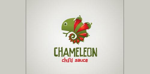 Chameleon chili sauce Inspired Logo Design