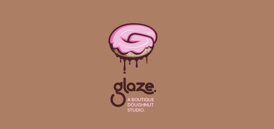 glaze Food Inspired Logo Design