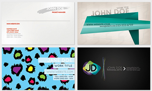 5 Free Business Card PSD's free business card template