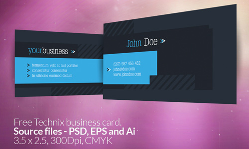 Technix business card free business card template