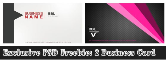 Exclusive PSD Freebie: 2 Business Card free business card template