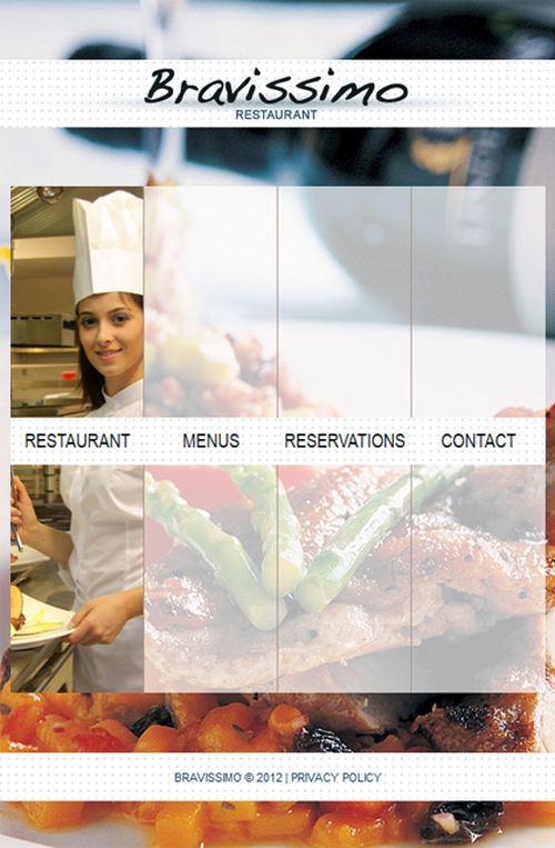 Bravissimo Restaurant Facebook Template